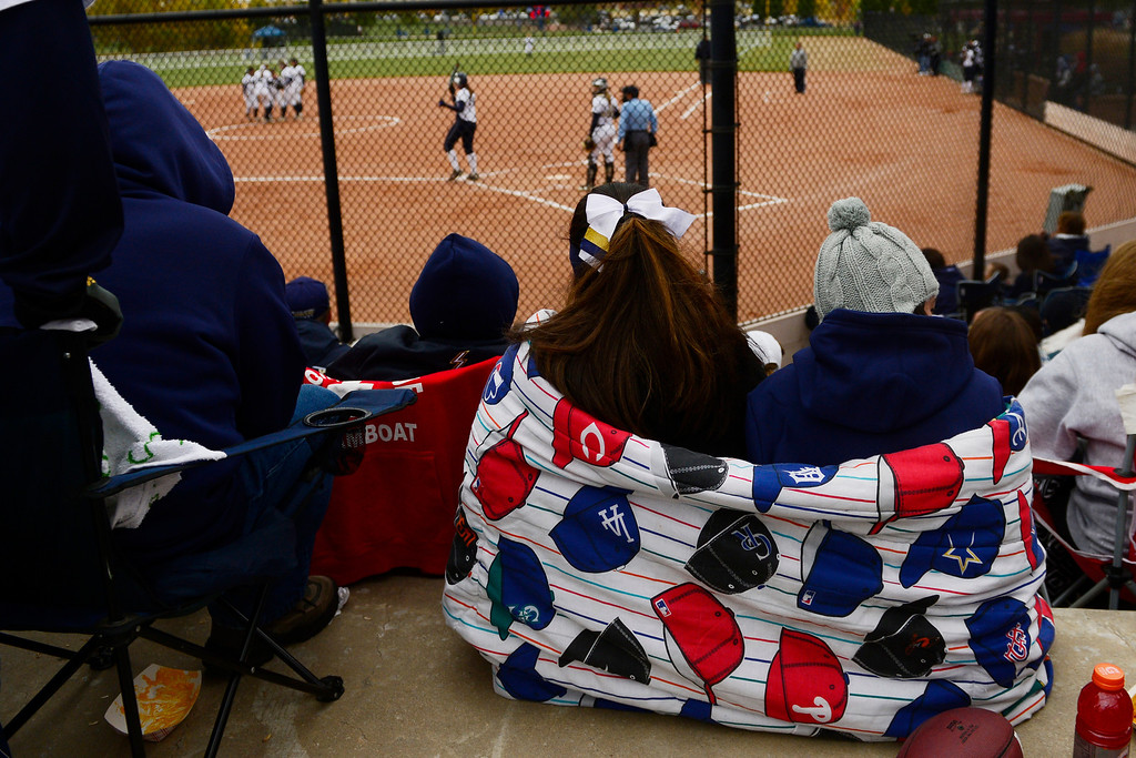 . Legacy fans watch the action during the Lightning\'s 6-4 state title win over Legend at the Aurora Sports Park on Sunday, October 20, 2013. The win was Legacy\'s sixth title in seven years. (Photo by AAron Ontiveroz/The Denver Post)