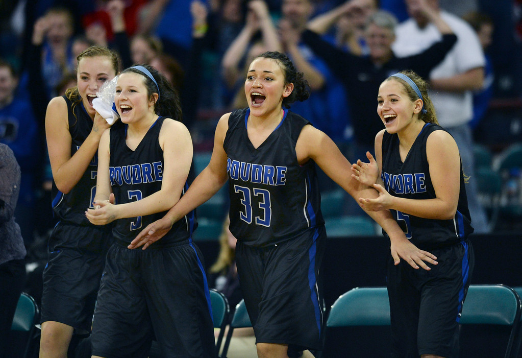 . The Poudre High School girl\'s basketball team defeated Cherry Creek 47-38 in a 5A playoff game in a Thursday night, March 6, 2014 at the Denver Coliseum. Photo By Karl Gehring/The Denver Post