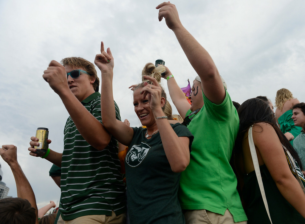 . DENVER, CO. - AUGUST 29:  Colorado State football fans tailgating before the Rocky Mountain Showdown against Colorado University at Sports Authority Field at Mile High Friday evening, August 29, 2014. (Photo By Andy Cross / The Denver Post)