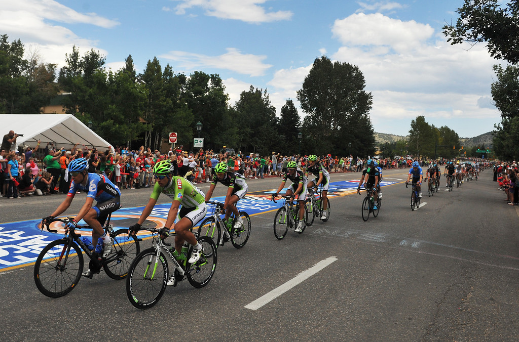 . Peter Sagan of Cannondale Pro Cycling Team (51) and the rest of the peloton ride in Estes Park during the 115.2 mile 6th stage of 2013 USA Pro Challenge race from Loveland to Fort Collins, Colorado. August 24, 2013. (Photo by Hyoung Chang/The Denver Post)
