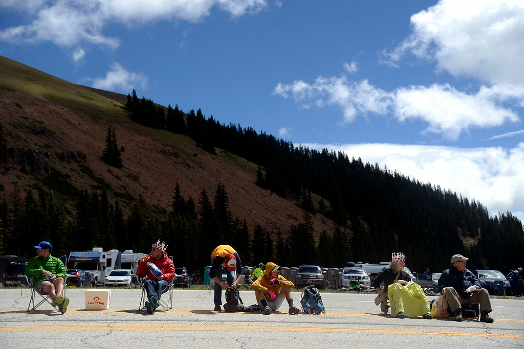 . Hundreds of cyclists and fans filled the highway over Monarch Pass in support of the athletes passing through later in the day. The USA Pro Challenge stage 3 on Wednesday, August 20, 2014. (Photo by AAron Ontiveroz/The Denver Post)