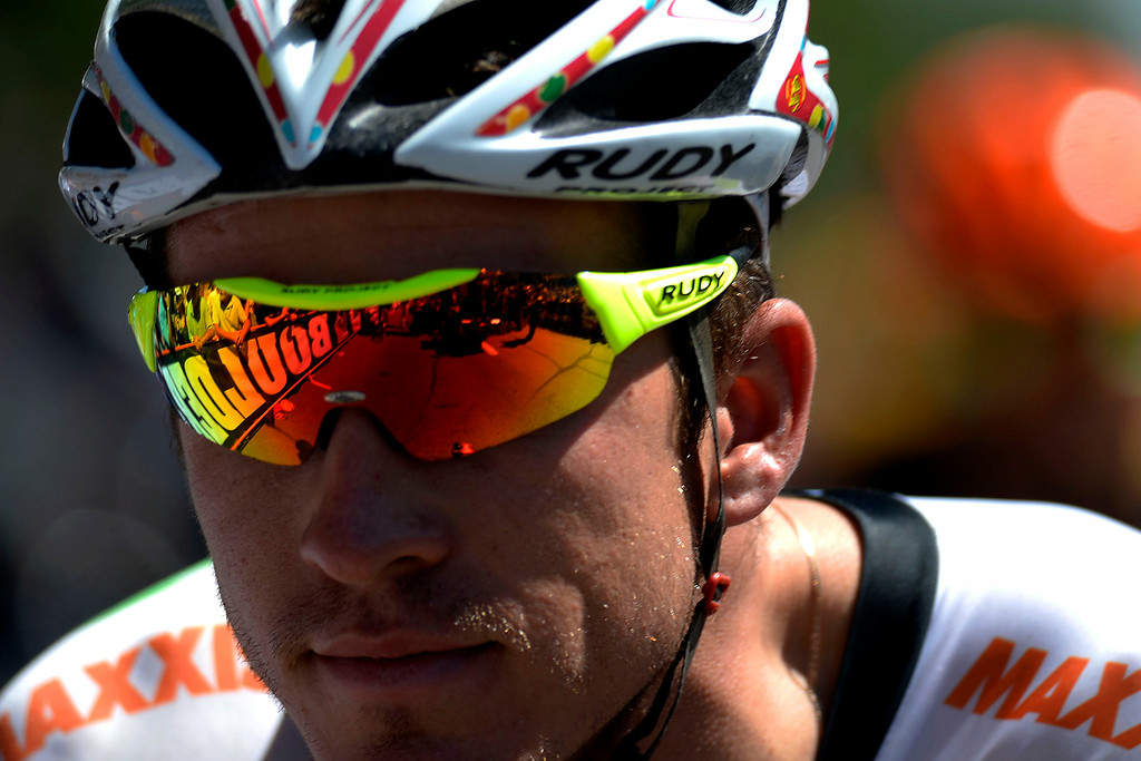 . Kirk Carlsen awaits the start of stage 7. The USA Pro Challenge stage 7 on Sunday, August 24, 2014. (Photo by AAron Ontiveroz/The Denver Post)