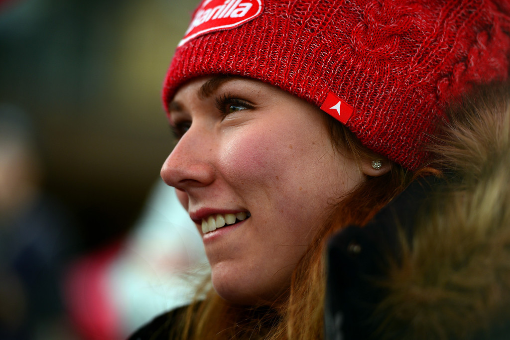 . VAIL, CO. - MARCH 28: Olympian Mikaela Shiffrin is welcomed home by the town of Vail, Vail Valley Foundation and Vail Resorts at the Gold Rush Celebration in Vail, March 28, 2014. The now 19-year-old Shiffrin became the youngest Slalom champion in Olympic Alpine Skiing history, with her .53 victory in Sochi over Austria\'s Marlies Schild. (Photo By Mahala Gaylord/The Denver Post)