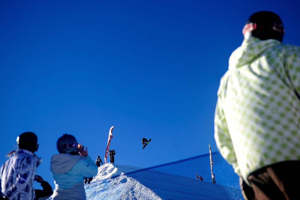 . Champion Mark McMorris rides during the men\'s snowboard slopestyle at Breckenridge Ski Resort on Sunday, December 15, 2013.   (Photo by AAron Ontiveroz/The Denver Post)