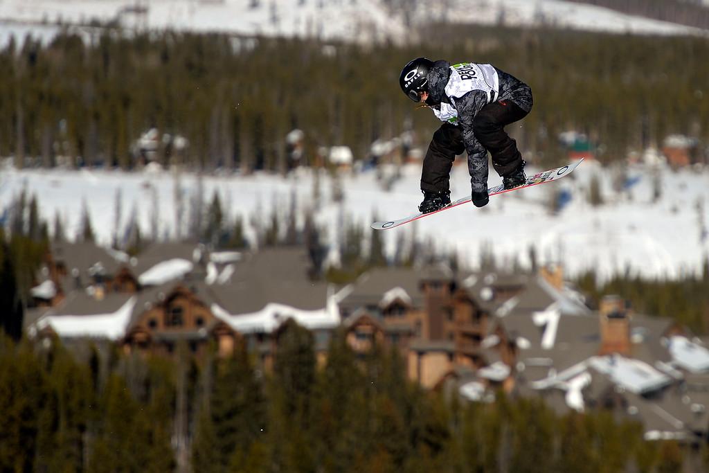 . Sven Thorgren rides during the men\'s snowboard slopestyle at Breckenridge Ski Resort on Sunday, December 15, 2013. (Photo by AAron Ontiveroz/The Denver Post)