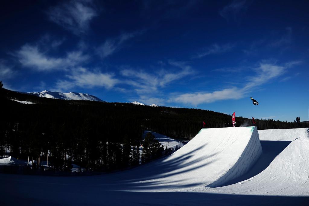 . Sage Kotsenburg rides during the men\'s snowboard slopestyle at Breckenridge Ski Resort on Sunday, December 15, 2013.  (Photo by AAron Ontiveroz/The Denver Post)