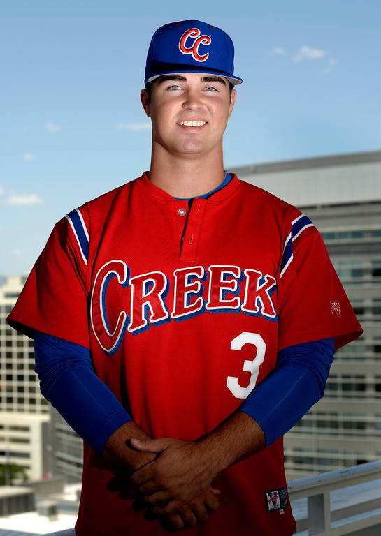 . Matt Rindal from Cherry Creek High School for All-Colorado baseball portraits. (Photo by Kathryn Scott Osler/The Denver Post)