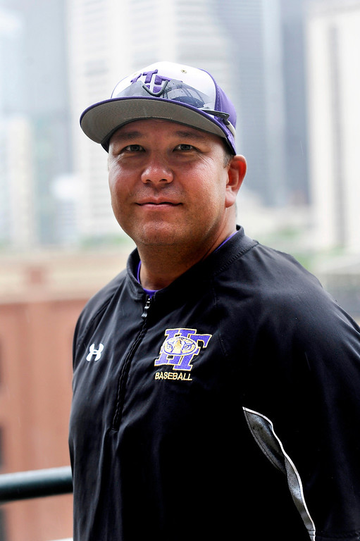 . Coach Eric Nakayama of Holy Family poses for a portrait at Coors Field in Denver, Colorado on June 8, 2014. (Photo by Seth McConnell/The Denver Post)