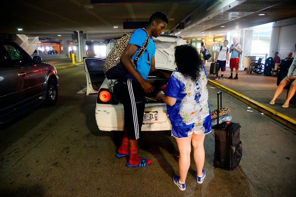 . AURORA, CO - JULY 29: Veronica Valencia and De\'Ron Davis were photographed on Wednesday, July 29, 2014. (Photo by AAron Ontiveroz/The Denver Post)