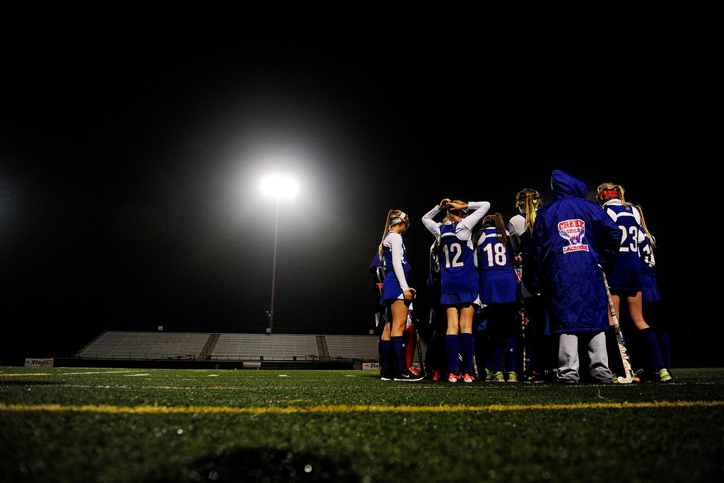 . Colorado Academy plays Cherry Creek during the CHSAA state field hockey championship. Colorado Academy (17-0) capped a perfect season at All-City Stadium. (Photo by AAron Ontiveroz/The Denver Post)