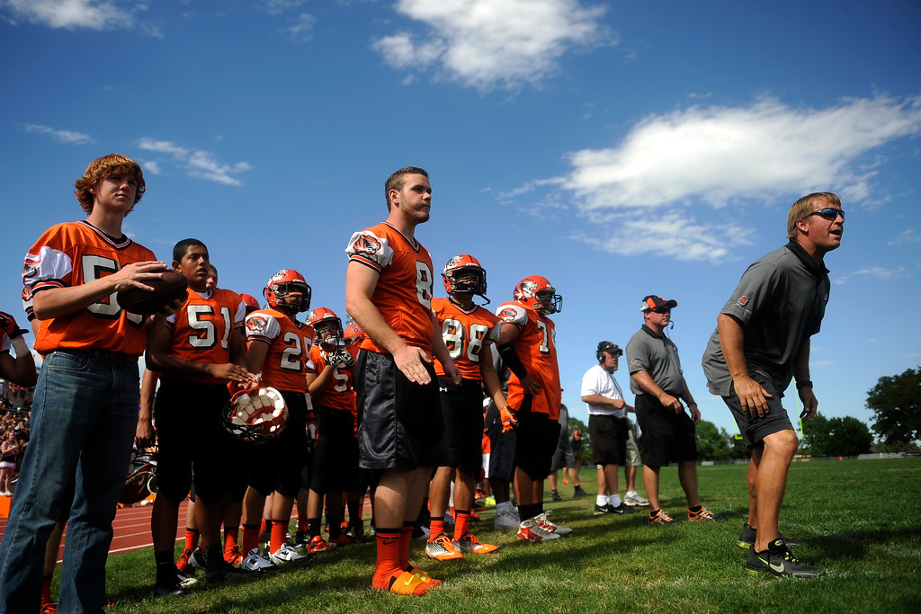 . Lakewood watches as the Fairview Knights near the end zone during the 4th quarter.  (Photo By Erin Hull/The Denver Post)