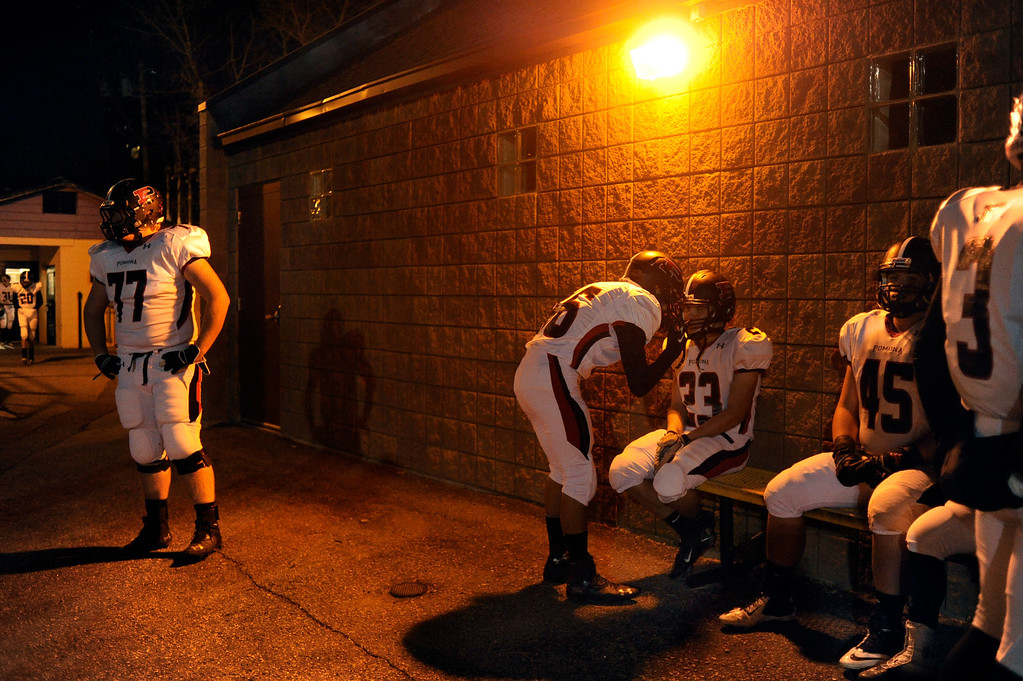 . BOULDER, CO. - NOVEMBER 15: Pomona lost to Fairview both times the two teams met this season. The Fairview High School football team defeated Pomona 35-24 Friday night, November 15, 2013. Photo By Karl Gehring/The Denver Post