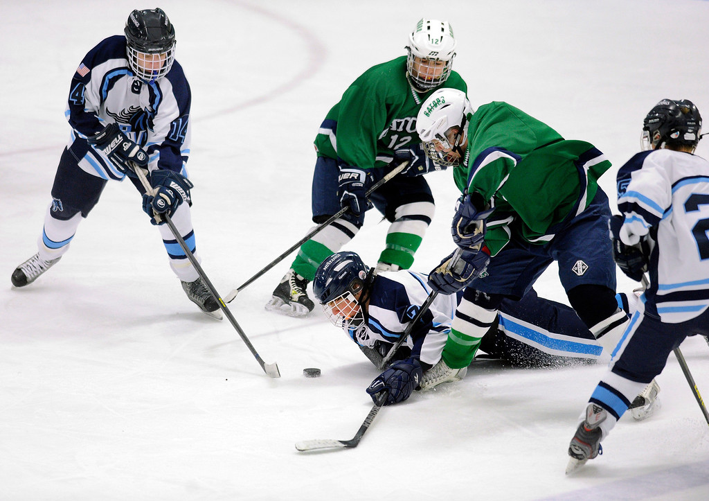 . The defending state champion 5A hockey team from Ralston Valley High School skated past Standley Lake 6-1 Tuesday night, December 17, 2013. Photo By Karl Gehring/The Denver Post