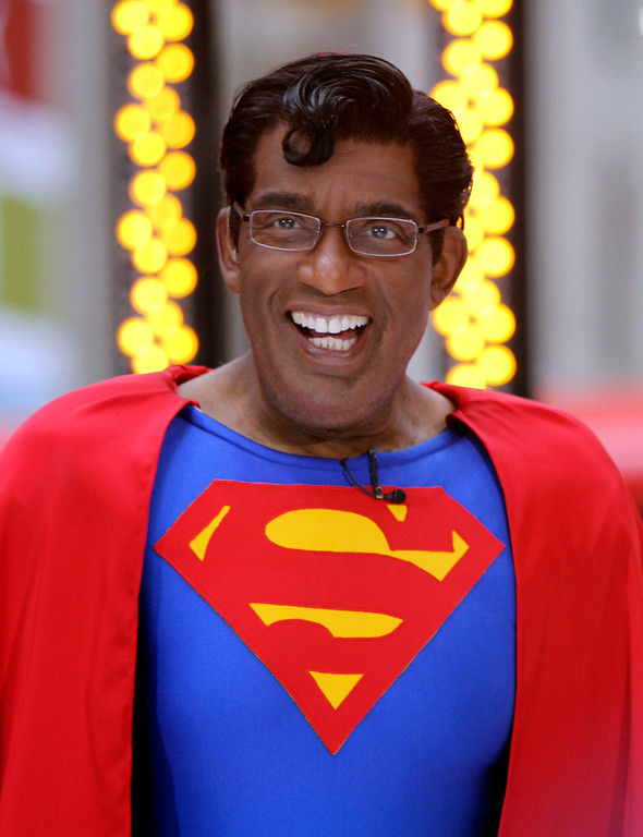 ". Weathercaster Al Roker as Superman on the NBC ""Today\"" television program\'s annual Halloween Show, in New York, Friday, Oct. 29, 2010. (AP Photo/Richard Drew)"