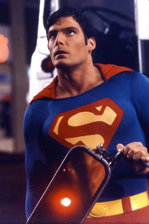 ". Actor Christopher Reeve is shown in a scene from the film ""Superman\"" in this undated  photo.  Reeve, the star of the \""Superman\"" movies whose near-fatal riding accident  turned him into a worldwide advocate for spinal cord research, died Sunday, Oct. 10, 2004, of heart failure while at his New York home, his publicist said. He was 52. (AP Photo/DC Comics,  File)"