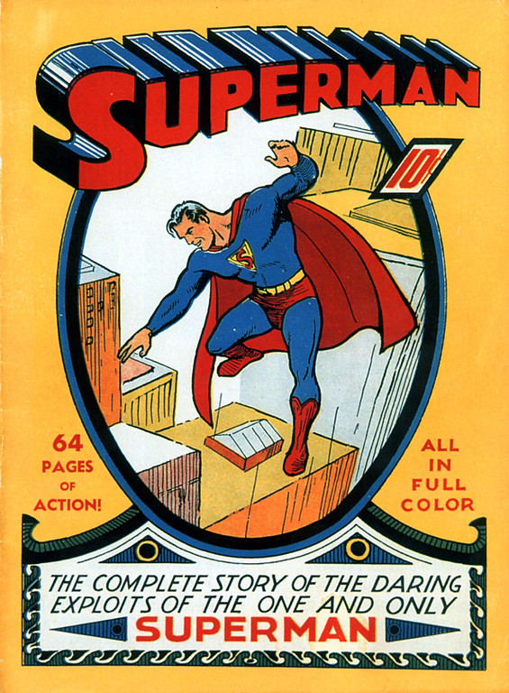 . This Superman No. 1 comic book, dated 1939, sold for $51,750 at Sotheby\'s auction house in New York Monday, June 28, 1999. The price was an apparent record for an unrestored copy of that issue, according to Dana Hawkes, Sotheby\'s specialist on comics. (AP Photo/Sotheby\'s)