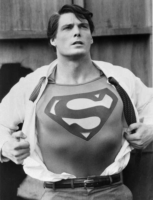 ". Actor Christopher Reeve is shown in the title role in the 1983 sequel ""Superman III.\""  (AP Photo/TMS & DC Comics Inc.)"
