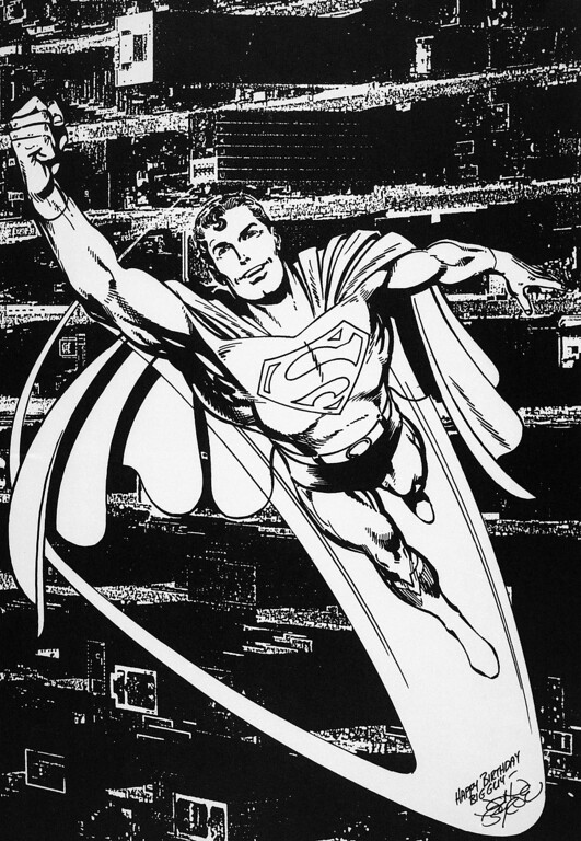 . The creators of Superman are going to give the man of steel a midlife mega-hero makeover in preparation for his 50th anniversary in 1988. According to a vice-president at DC Comics, he\'ll still be Superman but will have a new look, a new History, and a new and more limited cast of super friends shown Nov. 5, 1985. Although the granddaddy of comic book heroes will have a new look, his famous red and blue costume would not be changed. (AP Photo/DC Comics)