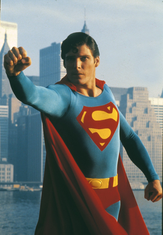". Actor Christopher Reeve is shown as the action hero Superman in the 1981 movie ""Superman II.\""  (AP Photo)"