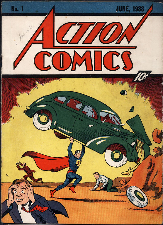 ". In this file photo released by Metropolis Collectibles, Friday, Feb. 27,2009 in New York, the June, 1938 cover of Action Comics is shown. The issue that was first featured the character ""Superman,\"" has sold for $317,200 in an Internet auction on Friday, March 13, 2009. The winning bid was placed by John Dolmayan, the drummer for the rock band System of a Down. Dolmayan is also a dealer of rare comic books. (AP Photo/Metropolis Collectibles, File)"