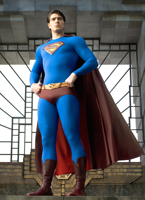 ". This undated photo provided by Warner Bros., shows actor Brandon Routh as Superman in the 2006 film ""Superman Returns.\"" Borrowing from the look and style of the Christopher Reeve \""Superman\"" franchise that took flight in 1978, \""Superman Returns\"" also follows that movie\'s pattern in casting. (AP Photo/Warner Bros., David James)"