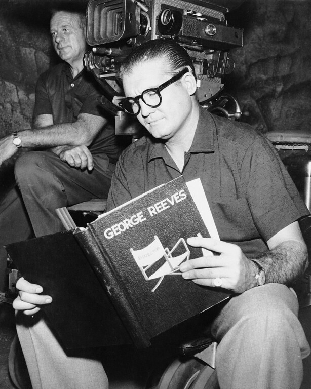 . George Reeves, who has been an actor for 26 years, isn\'t spending his time in front of the cameras these days in Hollywood, Los Angeles on June 13, 1958. He\'s a director instead. He played the part of superman so long that directors wouldn\'t give him a job acting. So George took over as director on the last 13 superman segments. Now I\'m enthused about doing more, George said and added he\'s forming a production company. (AP Photo)