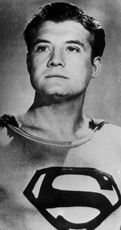 . Actor George Reeves, who portrayed Superman in the 1950s television series, is shown in the role in this undated photo. (AP Photo)