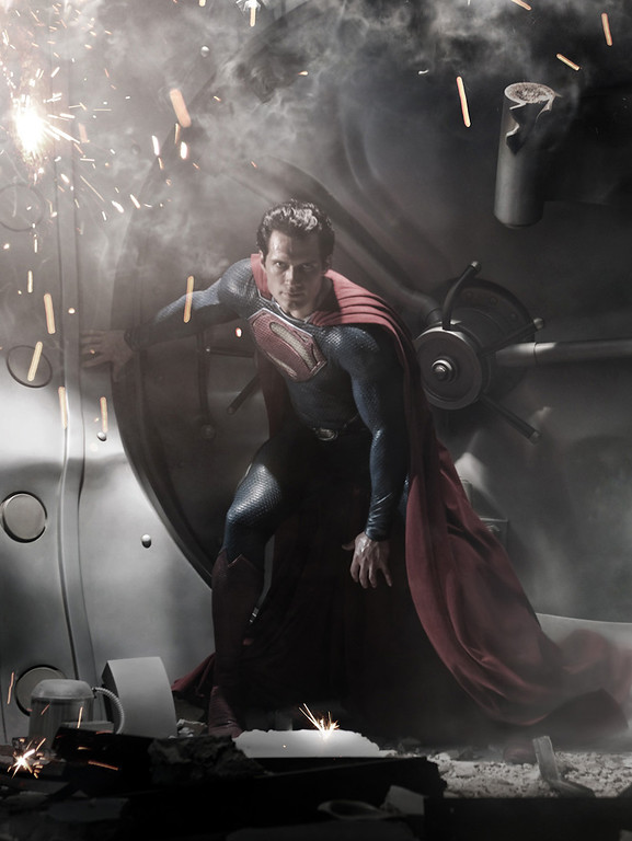 ". In this image released by Warner Bros. Pictures, Henry Cavill is shown as Superman in a scene from the film ""Man of Steel.\"" The film also stars Amy Adams, Russell Crowe, Diane Lane, Kevin Costner, Michael Shannon, Laurence Fishburne, Julia Ormond, Christopher Meloni and Antje Traue. (AP Photo/Warner Bros. Pictures/Legendary Pictures)"
