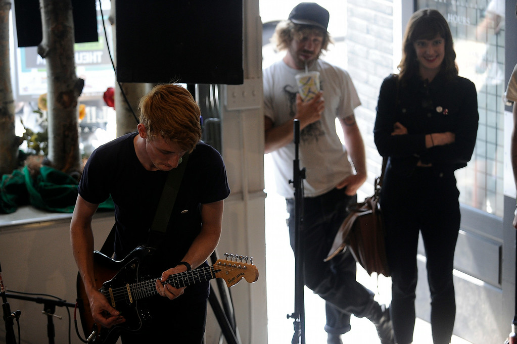 . Chase Ambler performs at the Esslinger Gallery during the Underground Music Showcase on July 27, 2014 in Denver, Colorado. (Photo by Seth McConnell/The Denver Post)