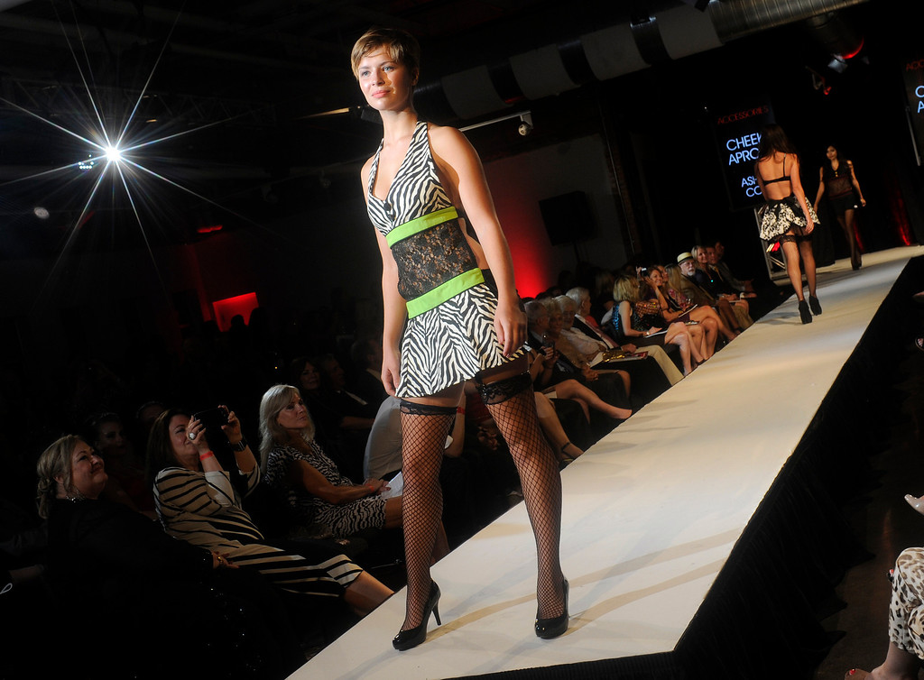 . DENVER, CO - SEPTEMBER 6:  The clothing of Ashlee Coln of Cheeky Aprons which was a finalist at the Fashion Group International of Denver\'s Rising Star 2013 fashion show on Friday September 6, 2013  at the McNichols Building in Denver. (Photo By Cyrus McCrimmon/The Denver Post )