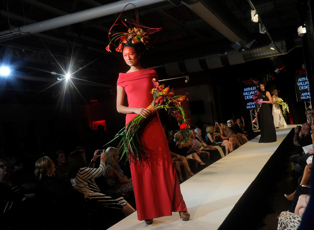 . DENVER, CO - SEPTEMBER 6:  The  floral creations of Arthur Williams which was a finalist at the Fashion Group International of Denver\'s Rising Star 2013 fashion show on Friday September 6, 2013  at the McNichols Building in Denver. (Photo By Cyrus McCrimmon/The Denver Post )