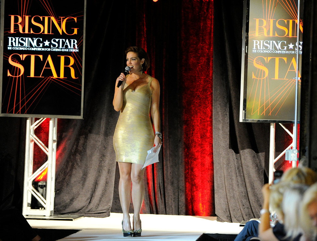 . DENVER, CO - SEPTEMBER 6:   Host of  at the Fashion Group International of Denver\'s Rising Star 2013 fashion show on Friday September 6, 2013  at the McNichols Building in Denver was Denise Plante. (Photo By Cyrus McCrimmon/The Denver Post )