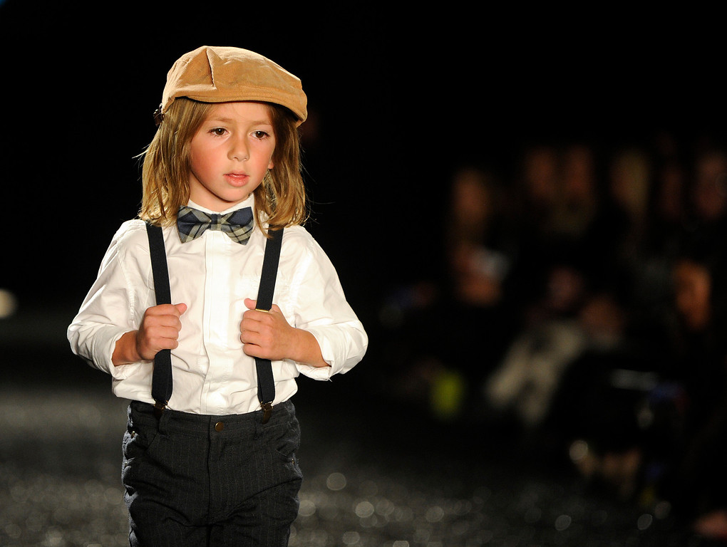 . DENVER, CO - OCTOBER 18 :   A model wears Little Me\'s  attire at the Celebrate Fashion in Cherry Creek North  Show. It  was held at the JW Marriott  Denver on Friday, October 18, 2013.   (Photo By Cyrus McCrimmon/ The Denver Post )