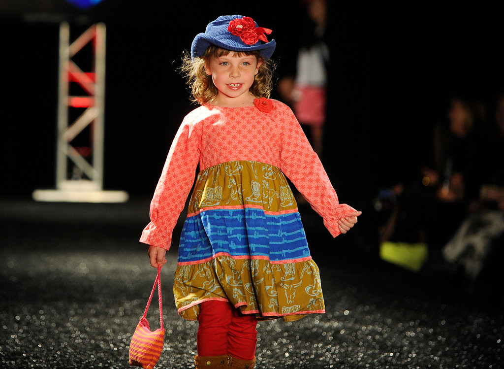 . DENVER, CO - OCTOBER 18 :  Young Colors  fashion attire for little people at the Celebrate Fashion in Cherry Creek North Show. It  was held at the JW Marriott  Denver on Friday, October 18, 2013.   (Photo By Cyrus McCrimmon/ The Denver Post )