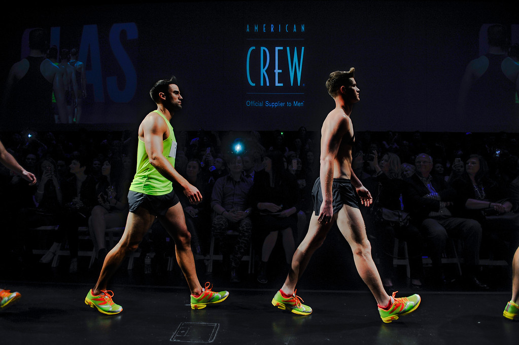 . Models walk the runway at Infinity Park Events Center in Denver, CO on Nov. 3, 2013 for the American Crew man\'s debut of their 2014 collection: The Independent. The show also featured the announcement of the U.S. and Canadian winners of the American Crew All-Star Challenge. (Photo By Erin Hull/The Denver Post)