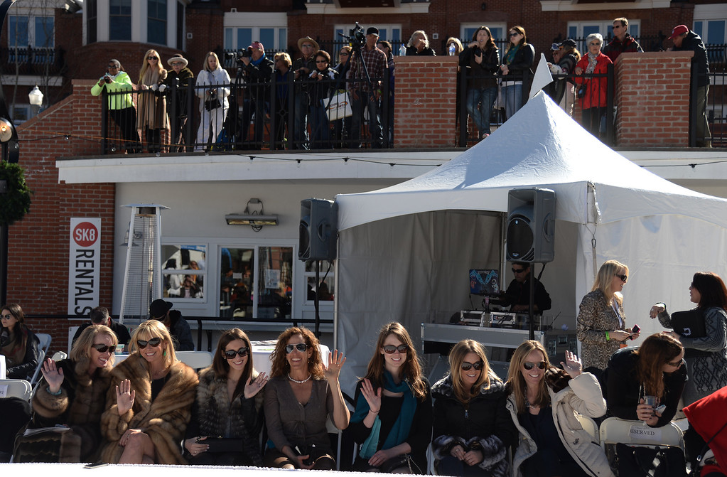 . People enjoy Aspen International Fashion Week 2014. Aspen Colorado. March 14. 2014. (Photo by Hyoung Chang/The Denver Post)