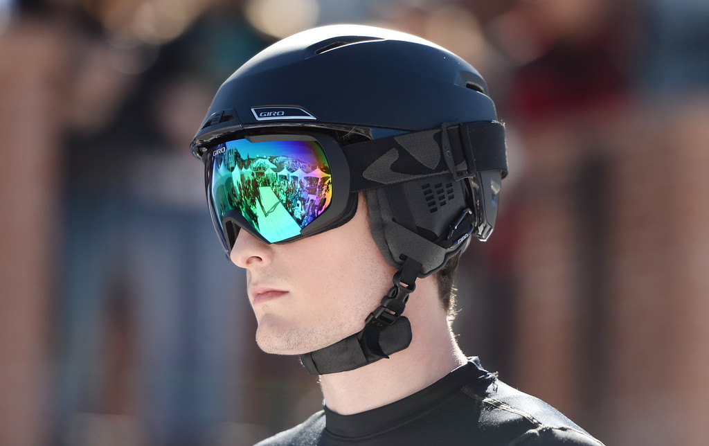 . Google and Helmet from Giro Sport Design. Aspen International Fashion Week 2014. Aspen Colorado. March 14. 2014. (Photo by Hyoung Chang/The Denver Post)