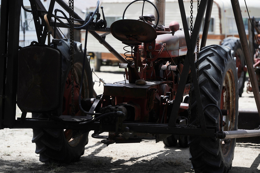 . HASWELL, CO - MAY 29:  Old farm equipment, still used, sits in a yard in Haswell, Colorado Wednesday May 29, 2013. The Intel Corporation, an American multi-national semiconductor computer chip maker, has codenamed their latest and greatest new chip after the small town of Haswell.  (Photo By Andy Cross/The Denver Post)