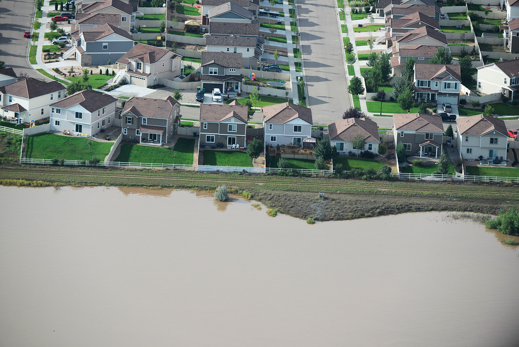 . Weld County Colorado flooding Saturday morning September 14, 2003. (Photo By Andy Cross/The Denver Post)