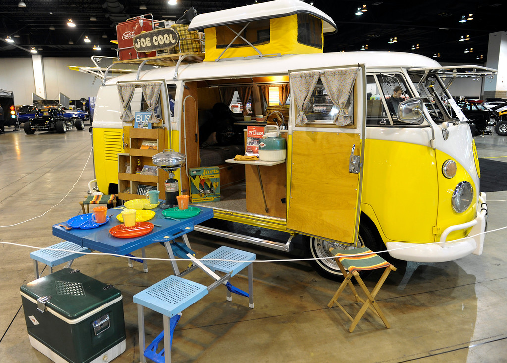 . A 1967 VW Westfalia is on display during the O\'Reilly Auto Parts Creme de la Chrome Rocky Mountain Auto Show takes place at the Colorado Convention Center downtown which runs through Sunday, Dec. 1, 2013. (Photo by Kathryn Scott Osler/The Denver Post)