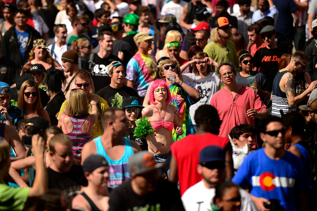 . 420 celebration at the Denver 420 Rally in Civic Center Park April 20, 2014 Denver, CO (Photo By Joe Amon/The Denver Post)