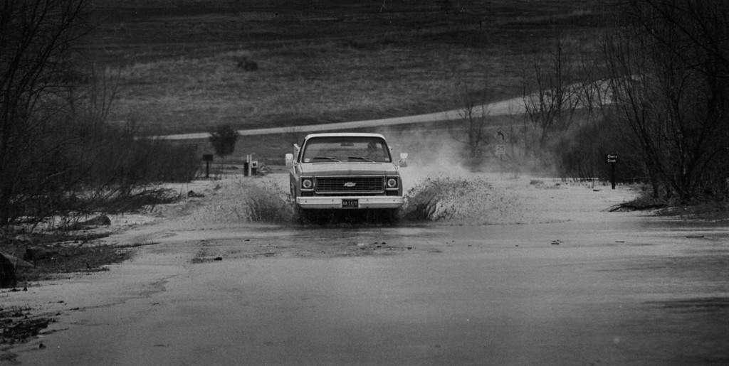 . APR 22 1983 - Cherry Creek Lake and Recreation Area Perimeter Rd. where Cherry Creek runs under it. (Lyn Alweis/ The Denver Post)