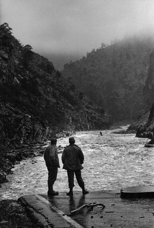 . AUG 2 1976  Big Thompson River Canyon (1976 Flood)  (Steve Larson/ The Denver Post)