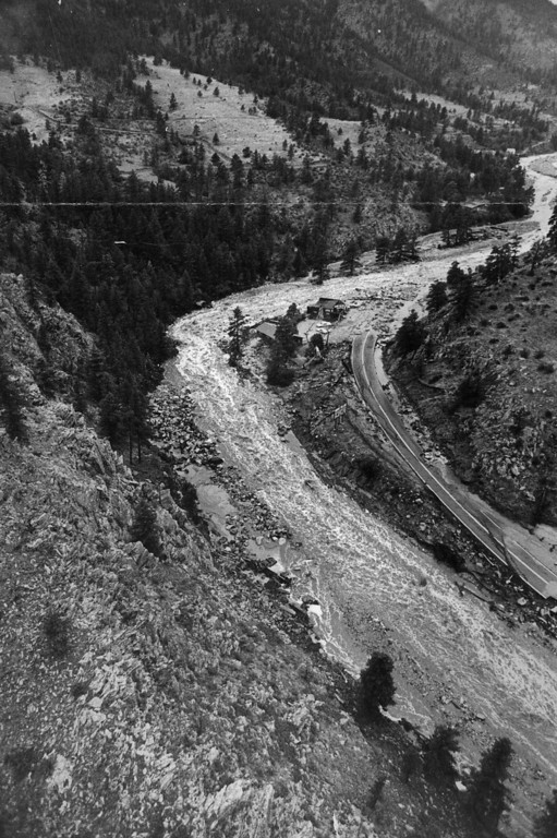 . AUG 1 1976  Big Thompson River Canyon (1976 Flood)  (Dave Buresh/ The Denver Post)