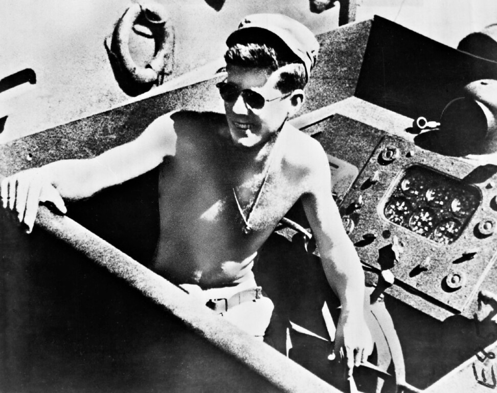 . DEC 24 1961.  Lt. (J.G.) John F. Kennedy has His PT Boat Sliced in two by Destroyer. (Davis Levy /From The Denver Post Archive)