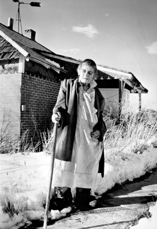 . DEC 7 1986  Elizabeth (check spelling) Driver at her home where she has lived 61 yrs. on Crowfoot Valley Dr. part of the property which may be annexed to Aurora.  Credit: The Denver Post