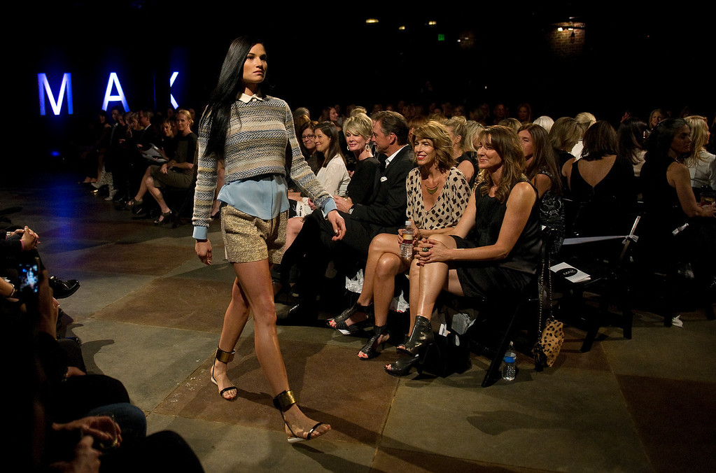 . The 28th annual MAX Fashion Show was held at the Mile High Station in Denver on Friday, November 8, 2013. The event is a fundraiser for research at Children\'s Hospital Colorado.  (Photo By Cyrus McCrimmon/The Denver Post)