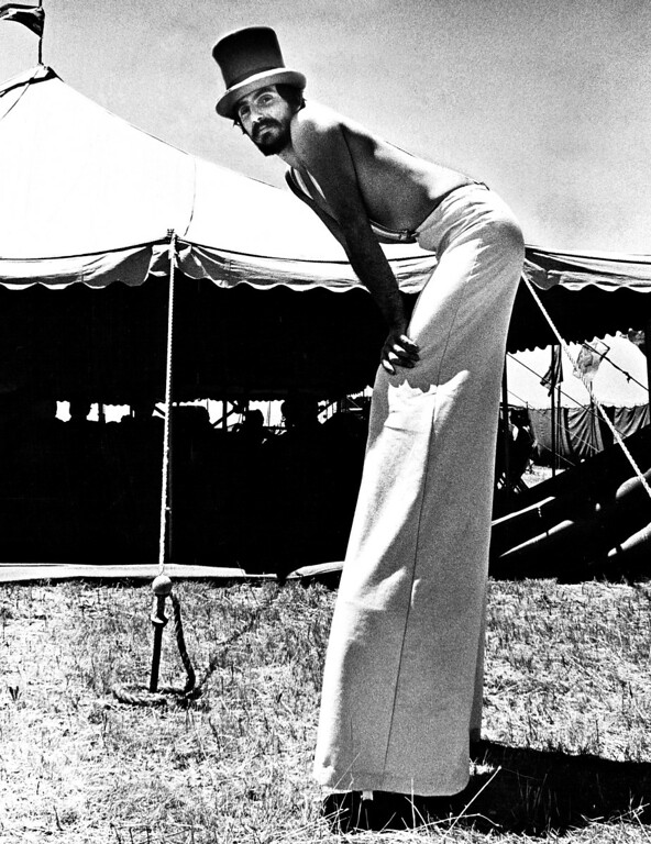 . JUL 11 1979.  Our on stilts is theater arts educator at the fair.  (Photo by George Godoy/The Denver Post Archive)