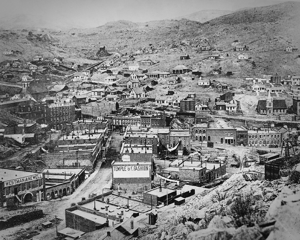 . Central City, Colorado in 1880.  (From the Denver Post Archive)