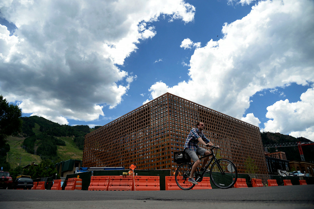 . The Aspen Art Museum is opening a new addition, which was designed by renowned Japanese architect Shigeru Ban. The Aspen Art Museum\'s latest downtown addition as photographed on Wednesday, July 23, 2014. (Photo by AAron Ontiveroz/The Denver Post)